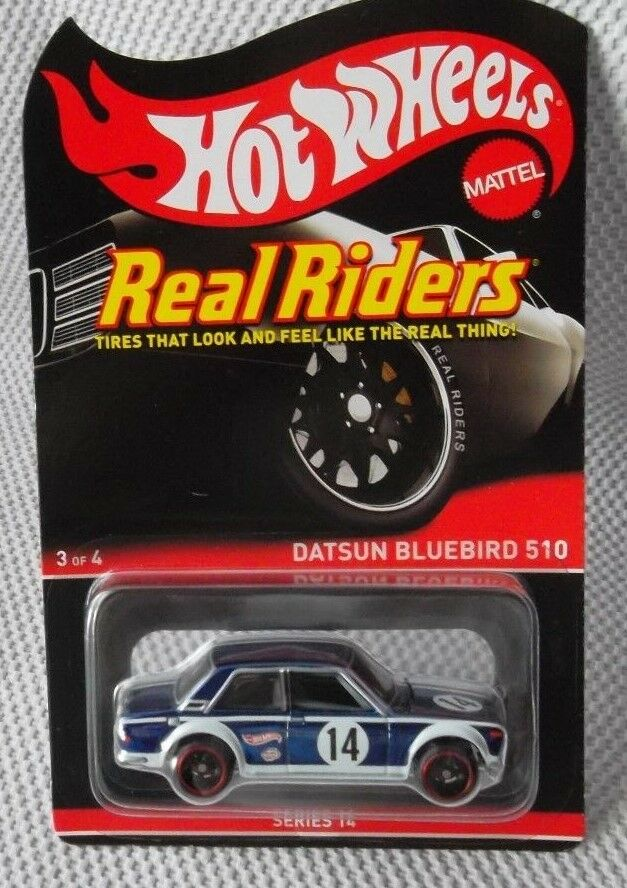 Datsun 510 vogel hot wheels  16 rlc echter reiter reihe 14 (  3 von 4)   6383   7000