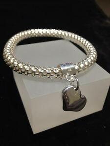 Silver-Mesh-Bracelet-HEART-CHARM