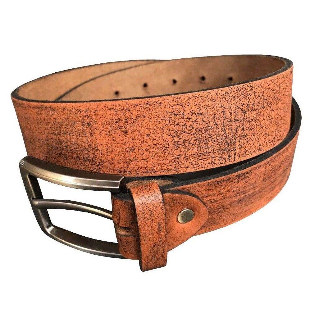 Herren Gürtel Ledergürtel aus Büffelleder Jeansgürtel Cognac Bundweite 85-155