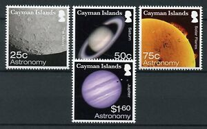 Cayman-Islands-2017-MNH-Astronomy-Planets-Jupiter-Moon-Sun-4v-Set-Space-Stamps