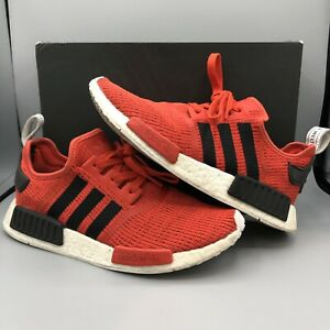 54d4a9eabaf72 Adidas Nomad NMD R1 Core Red Boost Size 9.5 BB2885 Ultraboost Bred ...