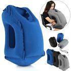 Inflatable Air Travel Pillow Airplane Neck Head Chin Cushion Office Nap Pillow