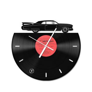 muscle car vinyl clock