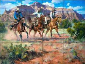Hightailin-It-by-Jack-Sorenson-Western-Ceramic-Tile-Mural-Backsplash-RW-JS018