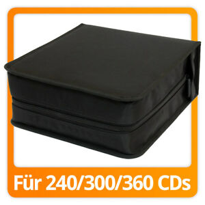 cd dvd wallet mappe aufbewahrung tasche case box f r 300 cds dvds ebay. Black Bedroom Furniture Sets. Home Design Ideas
