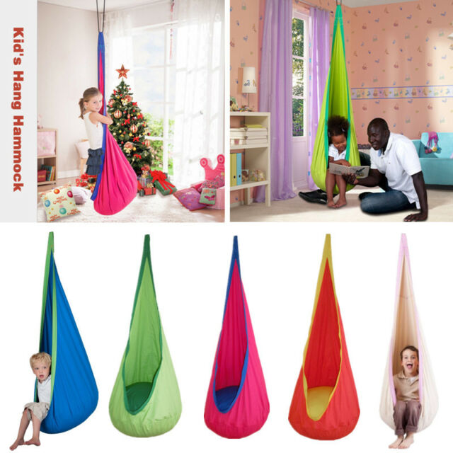 Groovy Baby Kid Indoor Outdoor Hammock Chair Hanging Pod Swing Seat Nook Tent Reading Pabps2019 Chair Design Images Pabps2019Com