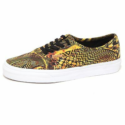 7912P sneaker donna VANS AUTHENTIC CA giallo/nero shoe woman