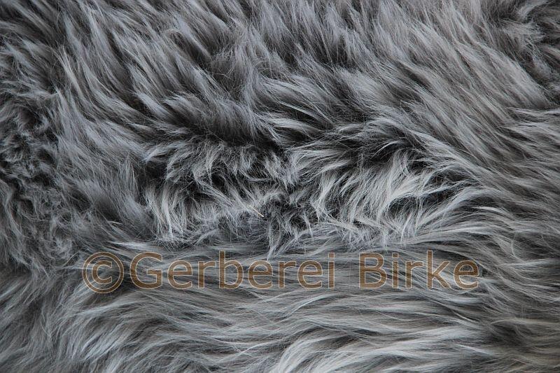 Lammfell Schaf Fell (Grau I) waschbar waschbar waschbar Sheepskin von der Gerberei   Tannery Birke fd86c6