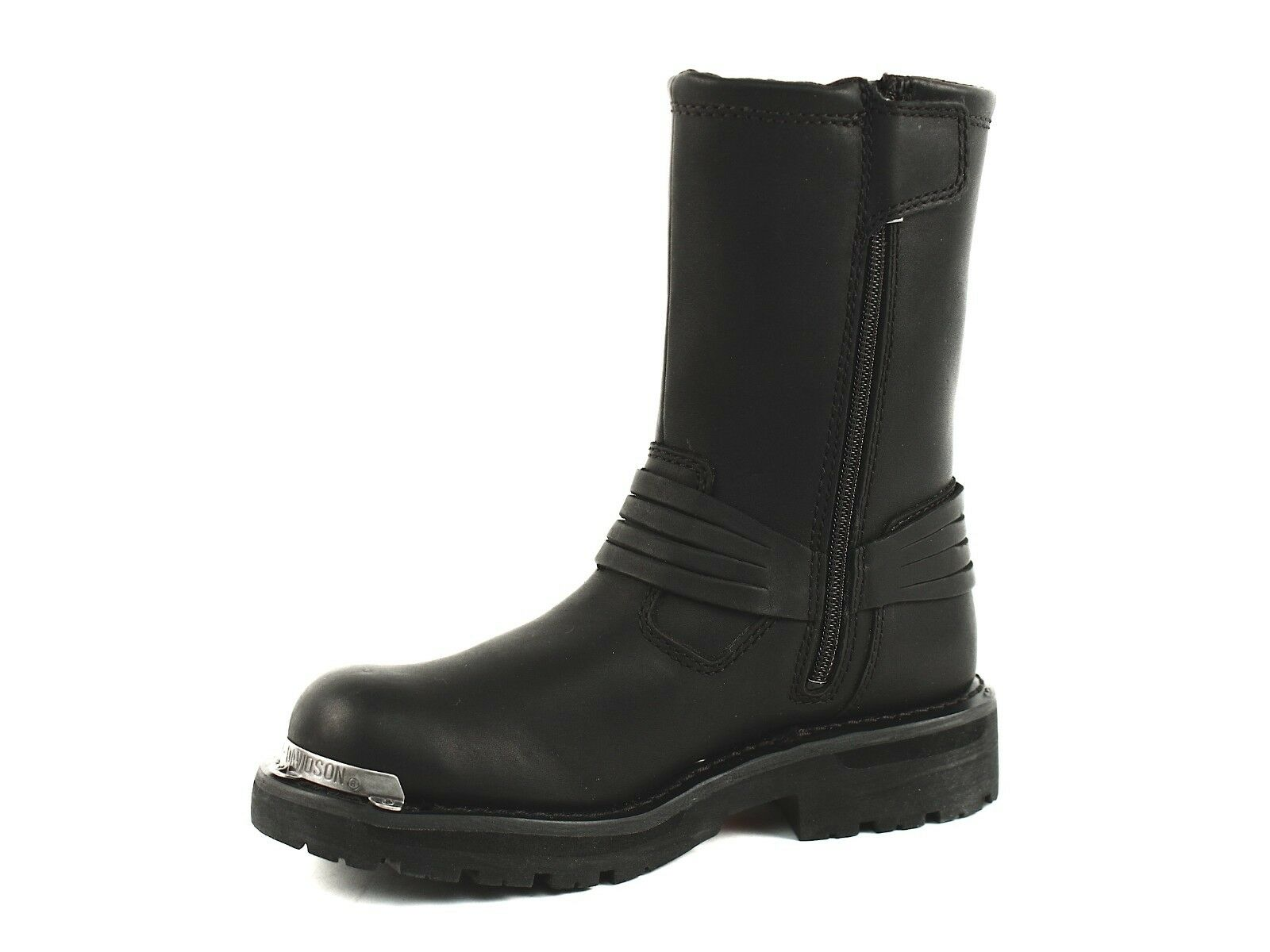 Harley Davidson SHANNON Womens Pull On Zip  Riding Riding Riding Black Leather Boot US-6 3c6c6a
