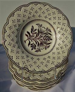 Vintage-Wedgwood-Etruria-Barlaston-Plate-Shallow-Bowl-Set-of-7