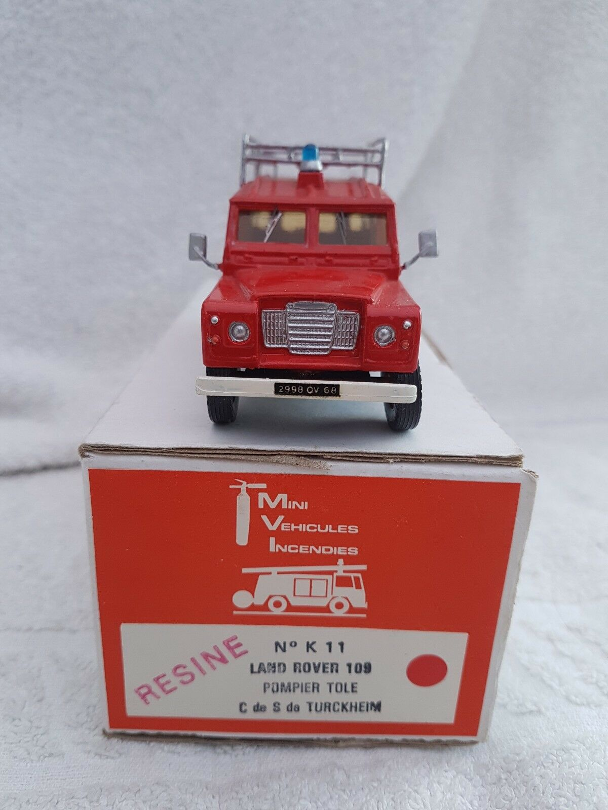 MVI 1 43 Resin Land Rover 109 Firefighters Pyrenees Atlantic Ready Built