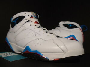 newest 254fe c9892 Details about NIKE AIR JORDAN VII 7 RETRO WHITE ORION BLUE BLACK INFRARED  BRED 304775-105 10.5