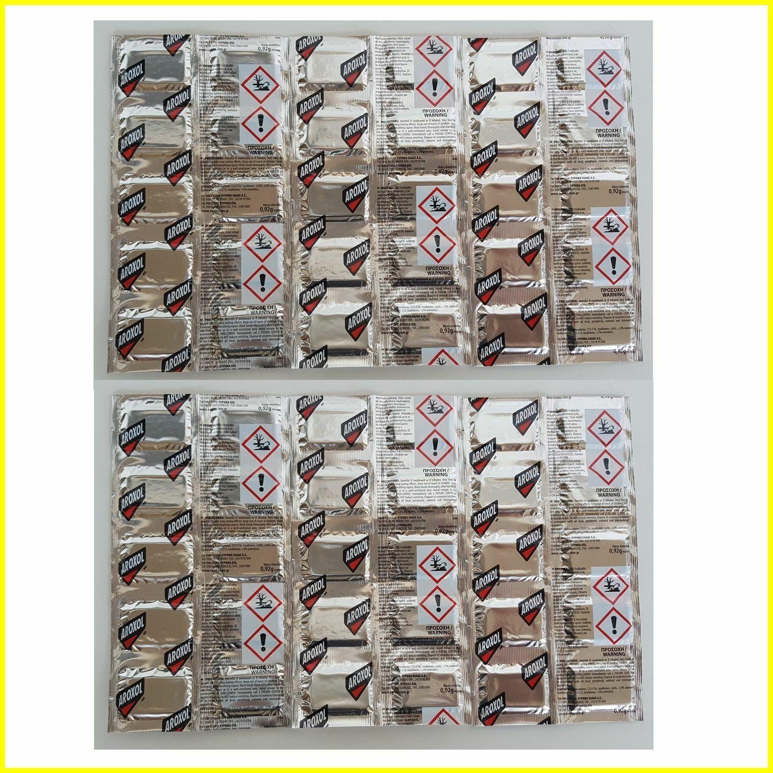 Mosquito (Tiger) Insectes Mouches Piqûres Moustiques aroxol Tapis Tablettes Recharges 540pcs
