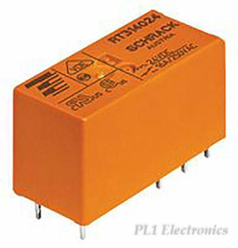 48VDC TE CONNECTIVITY // SCHRACK rt424048 relay DPCO PCB