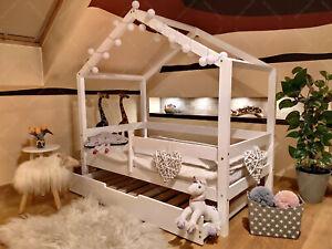 Lit pour Enfants,lit denfant,lit cabane avec barri/ère 120 x 60 cm, Barri/ères de s/écurit/é et tiroir: avec 5 Jours Livraison Oliveo Mon lit cabane Barri/ères de s/écurit/é et tiroir