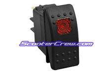 Red Rocker Switch Waterproof houseboat Searay Natique Formula Bayliner Tige Cat