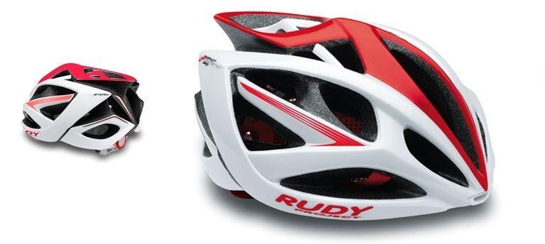 Casco da bici RUDY PROJECT Mod.AIRSTORM blanco rojo Shiny HELMET RUDY PROJECT AIRM