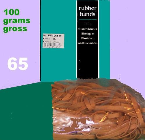 ELASTICI IN GOMMA ATTACCARE #65 circa 100 GRAMMES NATURALE 100mm 6mm MARRONE