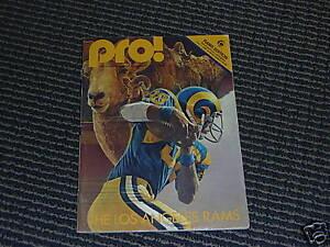 1980 La Rams 1st First Game At Anaheim Stadium Program Ebay