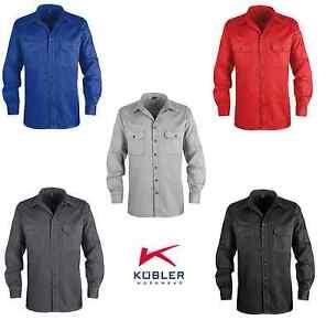 Arbeitshemd-Arbeitshirt-Hemd-Langarm-220-g-m-Kuebler-Groessen-S-4XL-5-Farben