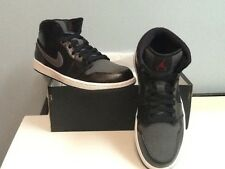 Nike Air Jordan 1 Mid Prem Wool Winterized Black/Gym Red-Dark Grey852542 001Sz10