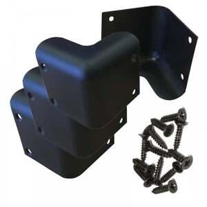ukdj set of 4 guitar amp speaker cabinet plastic corner black 52mm inc 16 screws 5021196660422. Black Bedroom Furniture Sets. Home Design Ideas