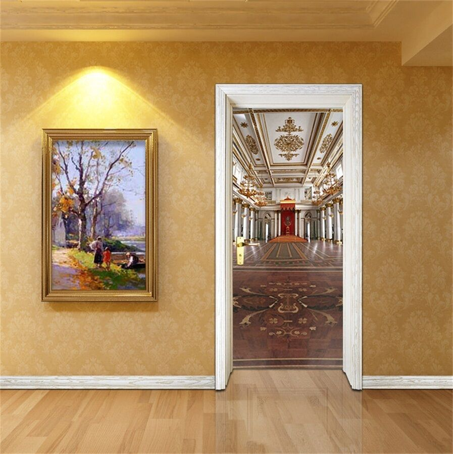 3D Gebäude 85 Tür Wandmalerei Wandaufkleber Aufkleber AJ WALLPAPER DE Kyra