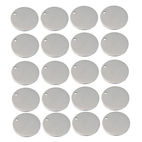 100 Stücke Silber Ton Edelstahl Rohlinge Runde Form Stanzen Rohlinge