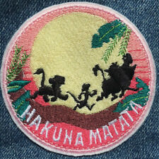LION KING Pig Hog Pumbaa 7.5cm x 6.5cm Patch Embroidered Sew or Iron on Badge