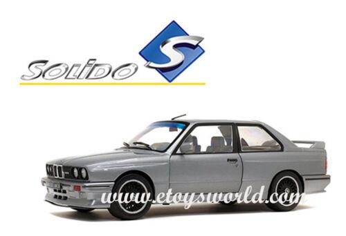 SOLIDO 1//18 SCALE 1990 GREY BMW M3 E30 DIECAST CAR MODEL S1801506