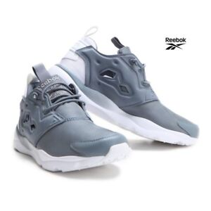 e38e785db9df Image is loading Reebok-Furylite-Clean-Running-Shoes-Sneakers-BD1436-Gray-