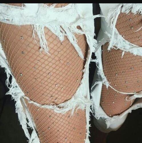 Netz strumpfhose mit strass Pantyhose Damen Strumpfhose  mit strass