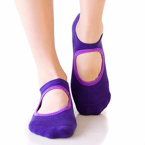 1Paar Antirutsch Damen Yogasocken für Yoga Fitness Pilates Socken Sneakersocken