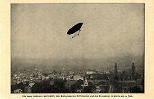 Neues lenkbares Luftschiff (Santos- Dumont) Umsegelung des Eifelturms Bildd.1901