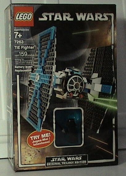 Nueva Corbata Lego Star Wars 7263 Fighter Con Luz Sable de Luz Sellado