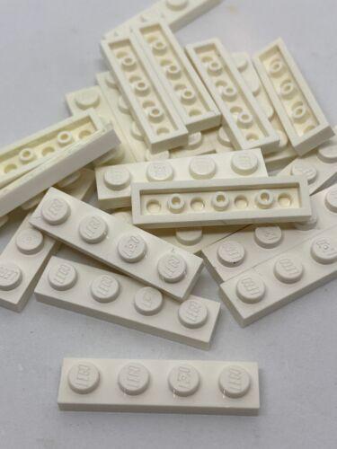 1X4 Lego 25 Piece Bulk Lot 1 x 4 Flat Plates WHITE Building Parts   2934
