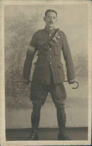 Postcard-WW1-Royal-Engineers-Sapper-John-Wright-Real-Photo-Gales-Studio