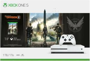 Microsoft-Xbox-One-S-Bundle-1-TB-Console-with-Tom-Clancy-039-s-The-Division-2