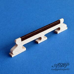 "Chevalet 5 String Banjo Bridge Mapleebony 5/8"" 15,87mm Spacing 1-11/16"" Closeout Brillant"