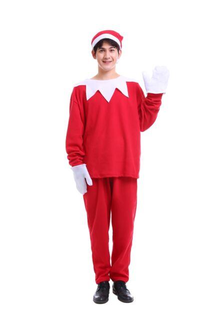 Xmas Costume Christmas Elf Xmas Adult Costume for Men Standard Size