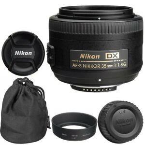 Nikon 35mm f/1.8G AF-S DX Lens for Nikon Digital SLR Cameras Brand New 18208021833