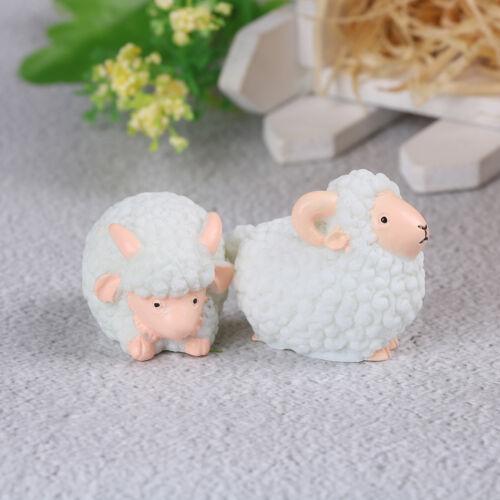 1pc mini sheep craft figurine garden ornament miniature fairy garden decor dNWUS