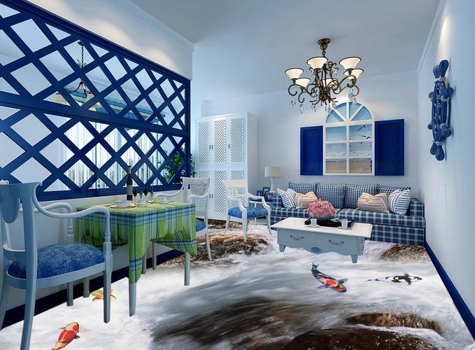 3D Fluss Fisch 5 Fototapeten Wandbild Fototapete Tapete Familie DE Lemon