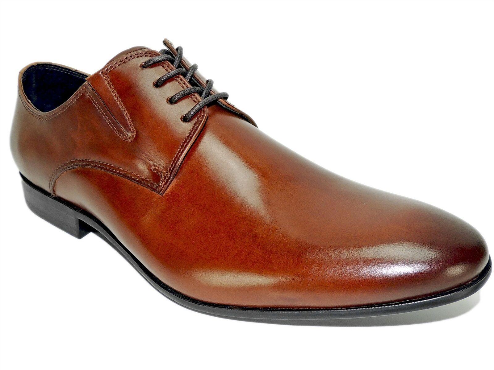 Kenneth Cole New York Men's Mix-Er Oxfords Cognac Leather Size 11 M