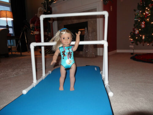 "GYMNASTICS BALANCE BEAM PARALLEL BARS MAT 18/"" FOR AMERICAN GIRL DOLL SHIPS DAILY"