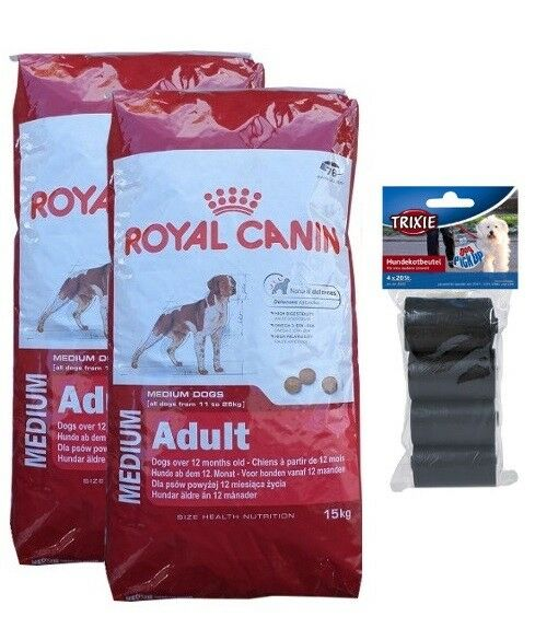 2x15kg Royal Canin Medium Medium Medium Adult cibo per cani  80 PZ. kotbeutel f3dbe8