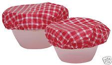 Kitchen Craft Set di Sette ciotola cibo in plastica con elastico copre kcfoodbowl