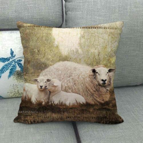 Pillowslip Animal Bedroom Sofa Waist Cushion Cover Linen Decorative Pillow Case