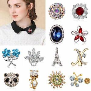Fashion-Flower-Butterfly-Crystal-Brooch-Pin-Collar-Women-Jewelry-Wedding-Gift