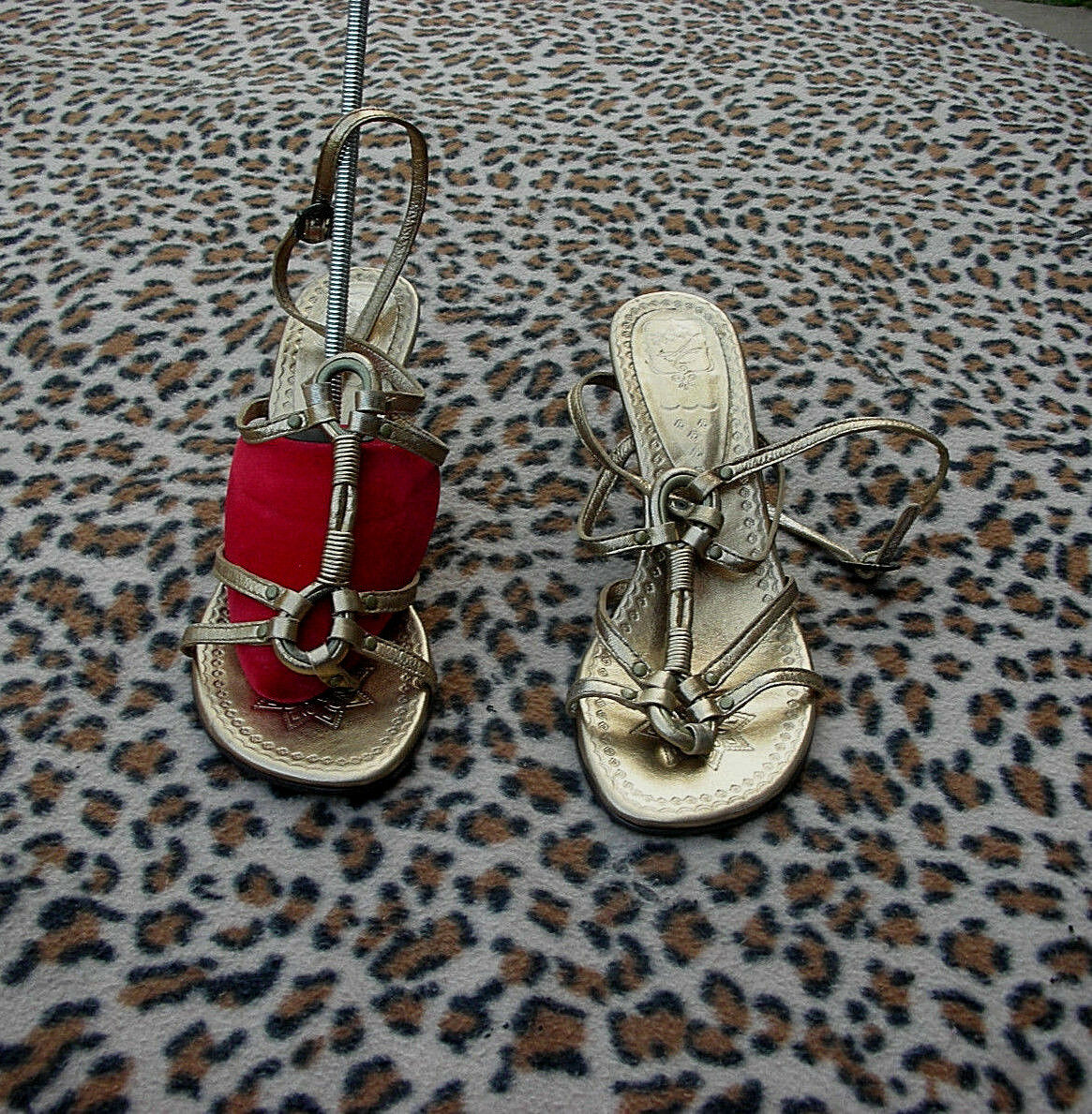 Ash Gold Gold Gold Leder Sandales UK 3 EU 36 1a5526